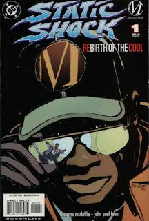 Capa da primeira edição de Static Shock (1993)