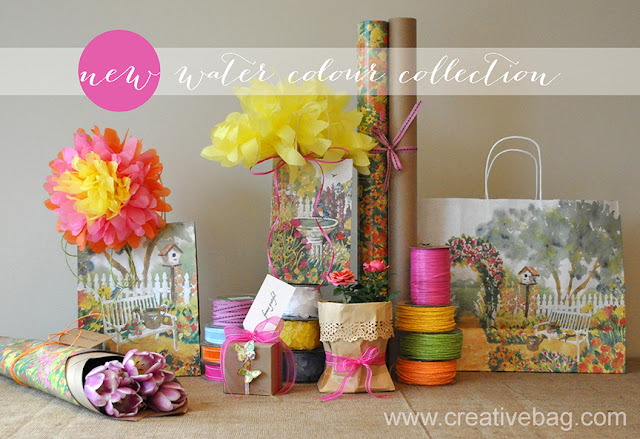 Creative Bag's watercolour garden packaging collection