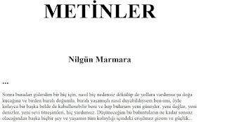 Nilgün Marmara Metinler kitabı pdf satın al