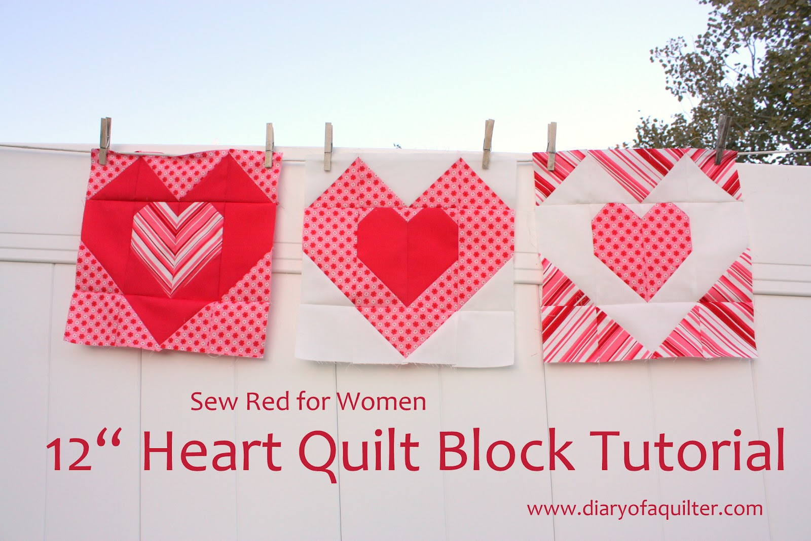 Free Heart Quilt Block Patterns :