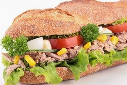 تناول التونة يحميك من الاصابة بأمراض القلب - ساندوتش شطيرة التن التنه tuna sandwich