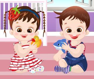 Juego de vestir a dos gemelos juega con tet - Juegos de gemelos ...