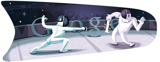 Google Doodles - Olympic Fencing 2012