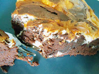 Rezept: Einfache Käsekuchen Brownies/ Recipe:  Simple Cream Cheese Brownies | http://panpancrafts.blogspot.de/