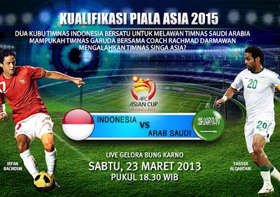Timnas Indonesia vs Arab Saudi 2013 (Pra Piala Asia 2015)