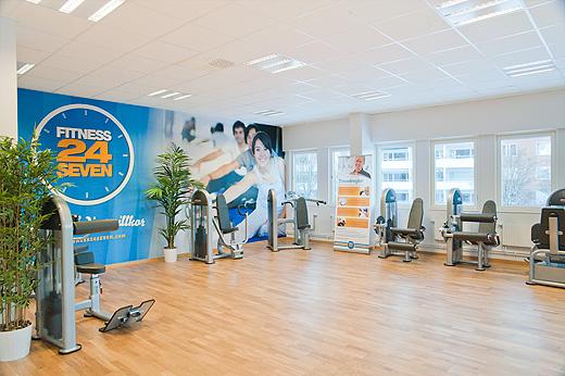 Invigning av fitness24seven for Fitness 24 7 mobilia
