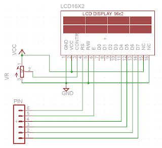 Skematik LCD 16x2