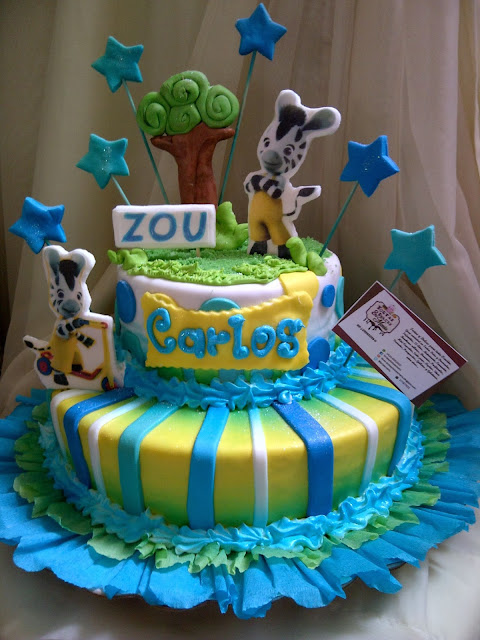 Zou Cumplea?os Decoracion ~ Linda torta de 1 kilo de Zou la cebra, decorada con laminado y
