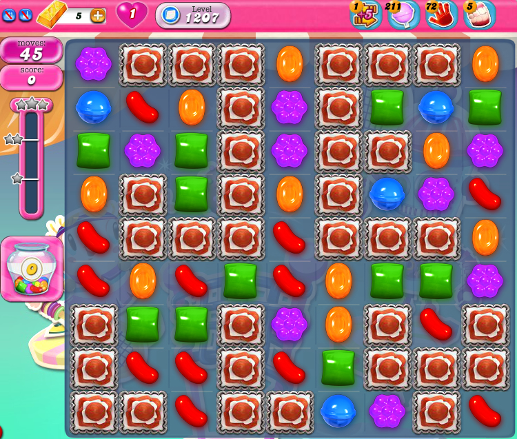 Candy Crush Saga 1207