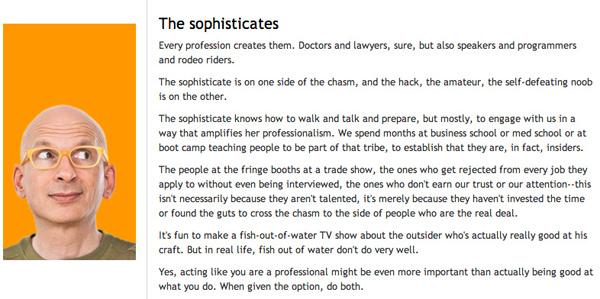 Seth Godin_The Sophisticates