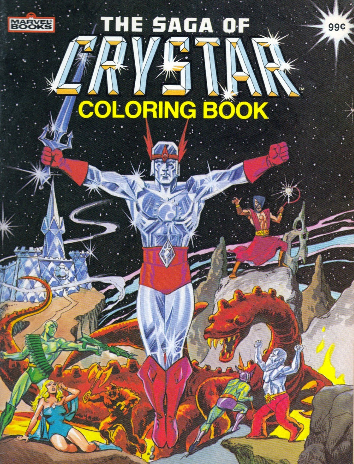 Marvel Comics of the 1980s: 1983 - The Saga of Crystar Coloring Books
