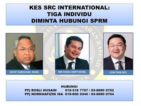 SPRM buru Jho Low, Nik Faisal dan Datuk Suboh