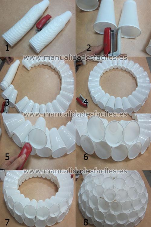 Muneco De Nieve Con Vasos Plasticos