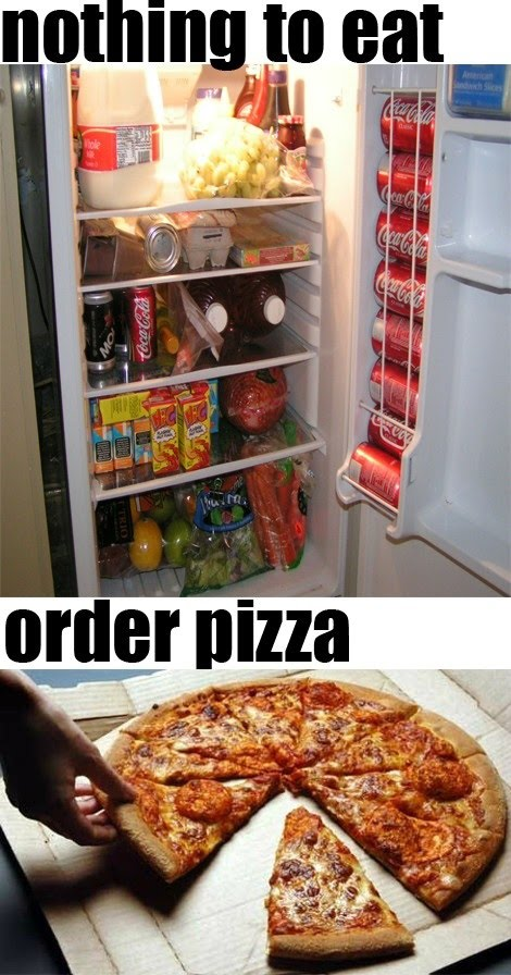 Nothing To Eat Order Pizza