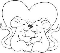 Desenhos para colorir de dia dos namorados parte 3