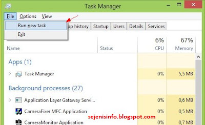 run new task windows 8