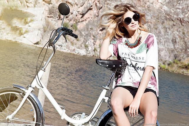 Remeras verano 2016 moda mujer. AF Jeans verano 2016.