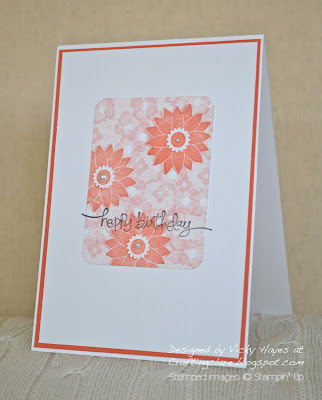 Card stamped with Fruit and Flowers from Stampin' Up