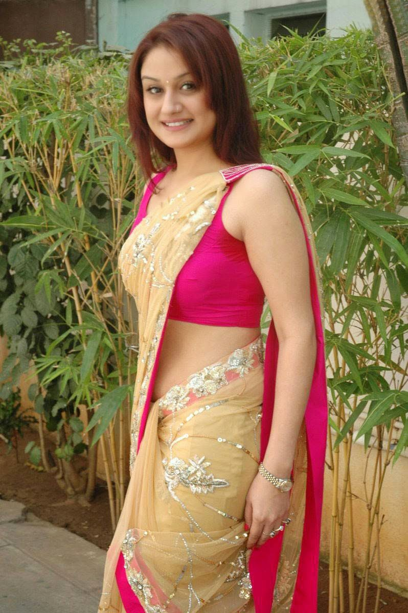 Actress Sonia Agarwal Latest Cute Hot Exclusive Transparent Gold Colour Saree Navel Show Spicy Photos Gallery
