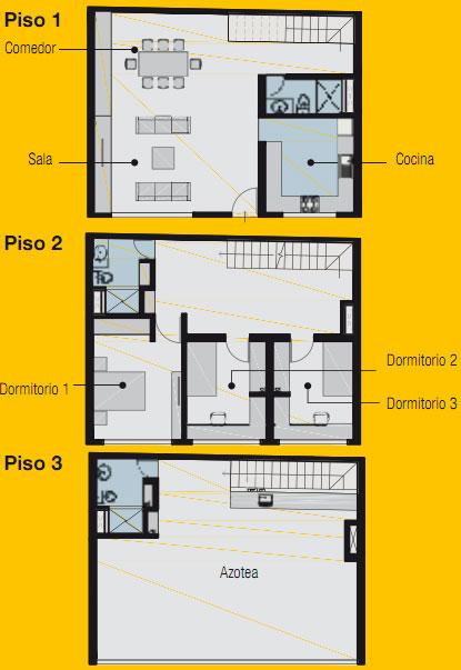 PLANO DE VIVIENDA DE 7.5m x 10m by planosdecasas.blogspot.com