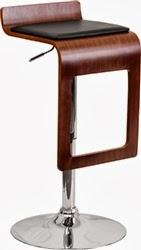 Modern Bar Stool with Wood Frame