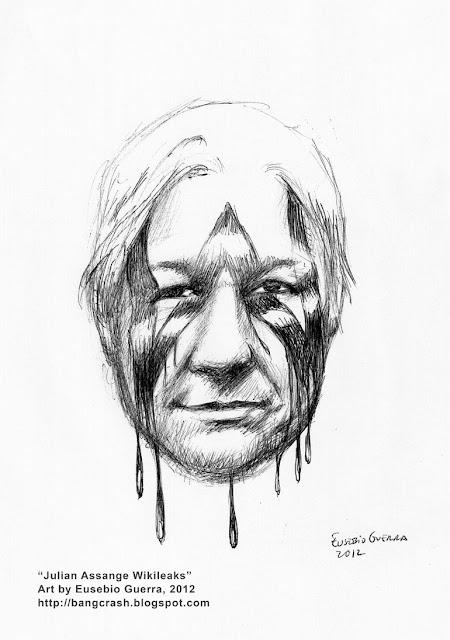 Julian Assange Wikileaks, Eusebio Guerra, 2012