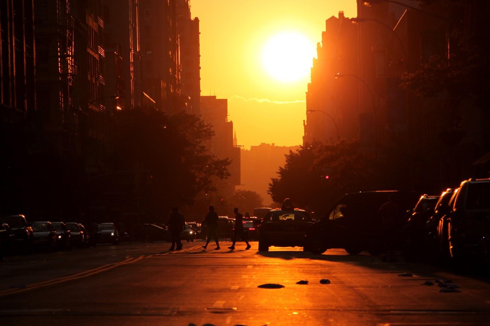 D 39 une pomme l 39 autre nyc coucher de soleil magique ou l 39 heure dor e magic sunset or the - Horaire coucher de soleil ...