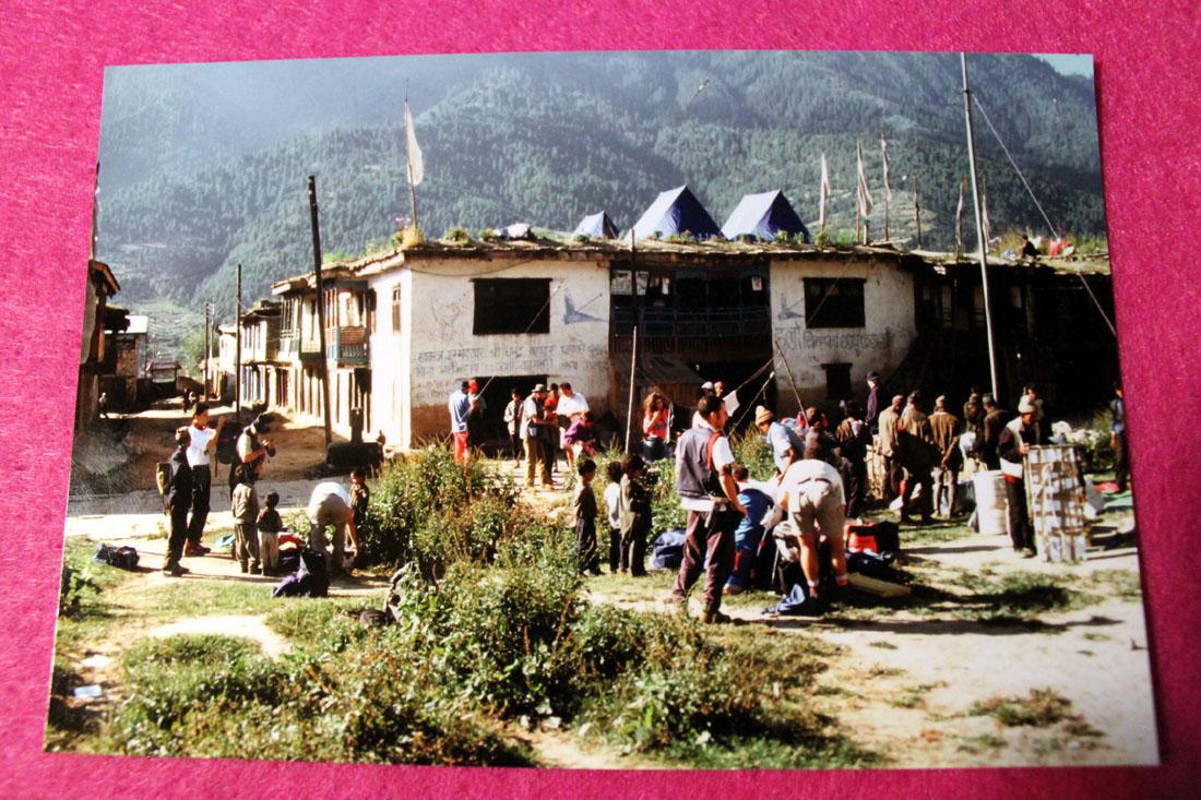 Il villaggio di Jumla, pundo di partenza della spedizione a piedi