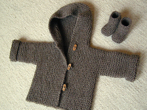Baby Hoodie Knitting Pattern Free : knitnscribble.com: Knit and crochet quick baby gifts
