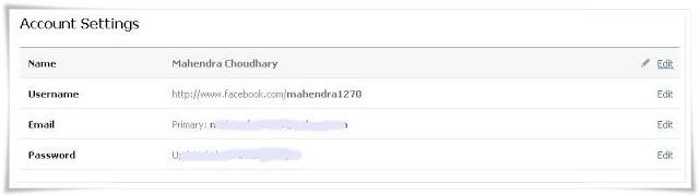 faecbook profile name change