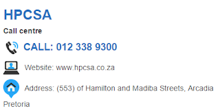 HPCSA Customer Service Number South Africa