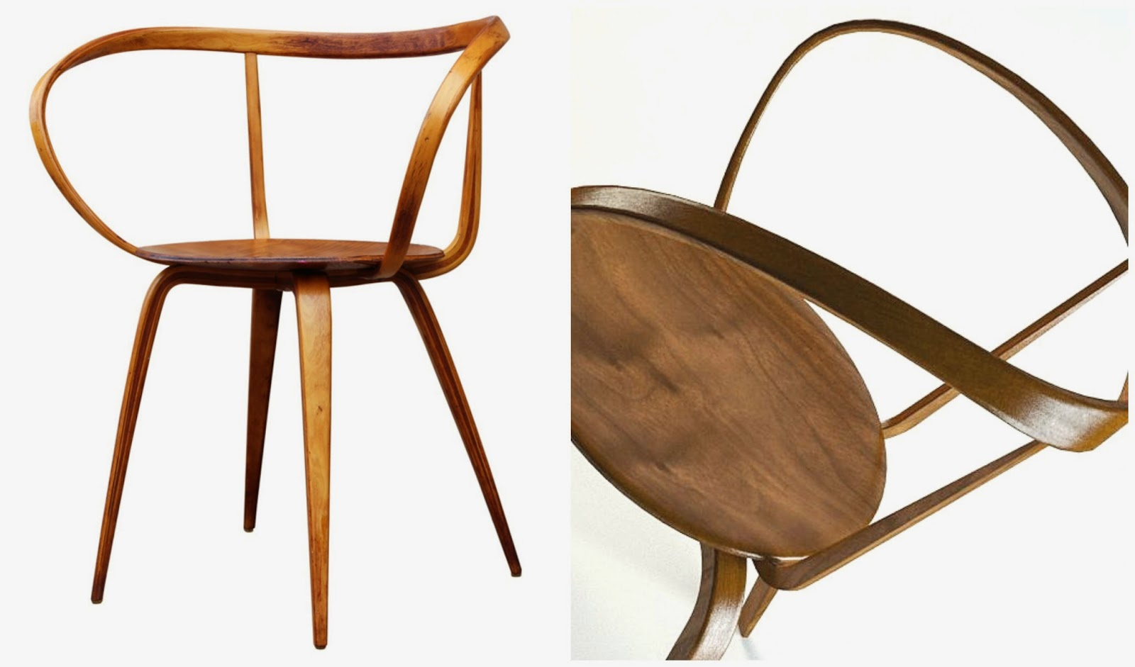 The first pretzel chair was inspired the classic bentwood designs of ...