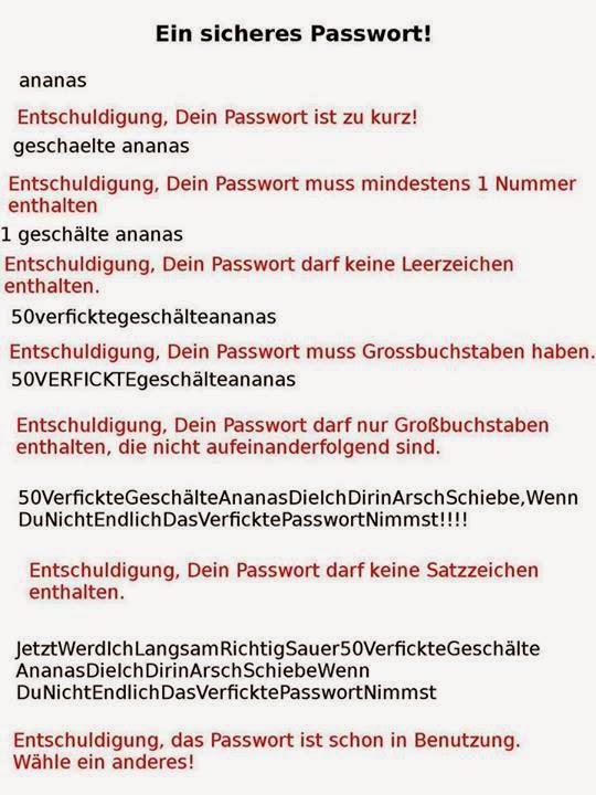 paypal passwort anforderungen