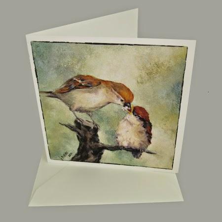 Atelier for Hope Kunstkaart incl. enveloppe, afbeelding schilderij mus met jong