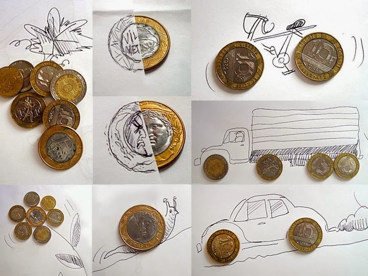 الابداع بلا حدود-لوحات فنية نصها مرسوم ونصها حقيقي Design-fetish-Victor-Nunes-objects-illustrations-into-faces-9