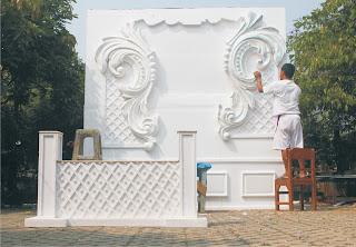 Proses Pembuatan batik Styrofoam