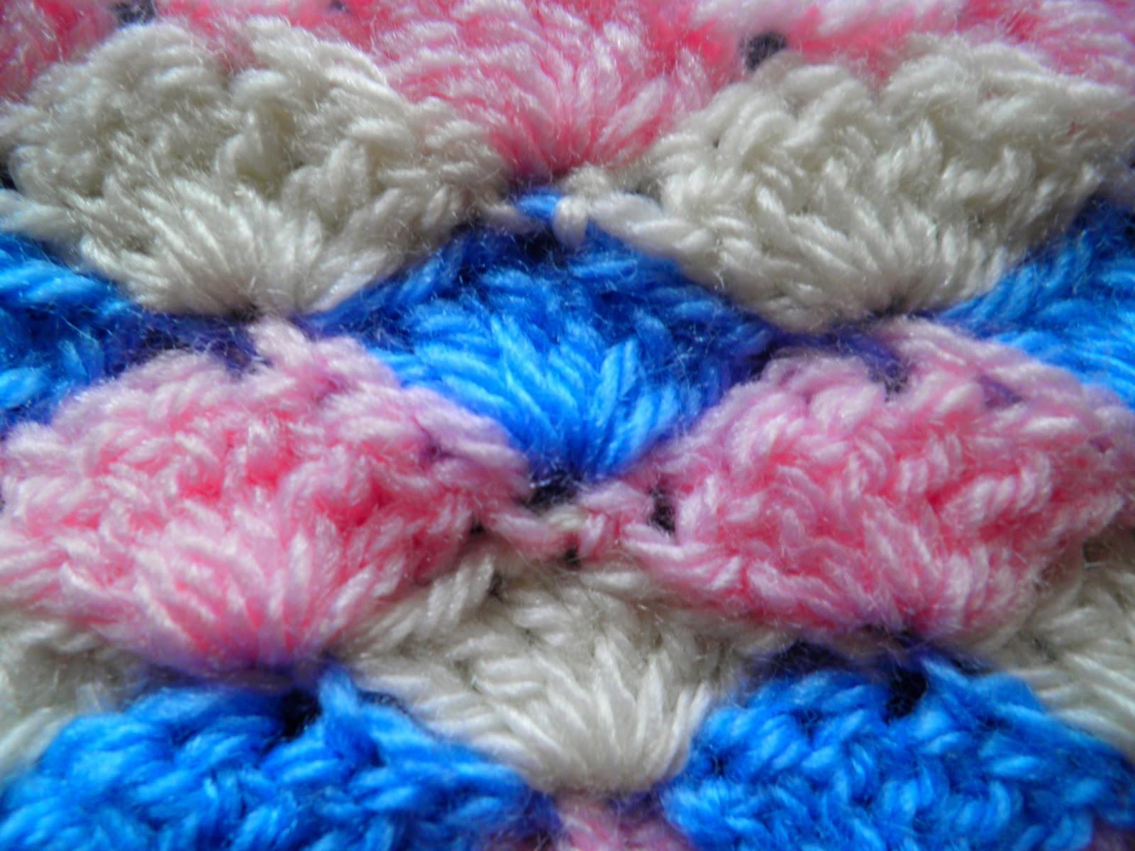 Artes anas punto de concha crochet muestra y diagrama - Mantas lana ganchillo ...