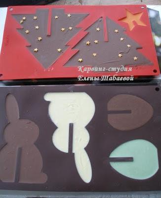 новогодние шоколадки