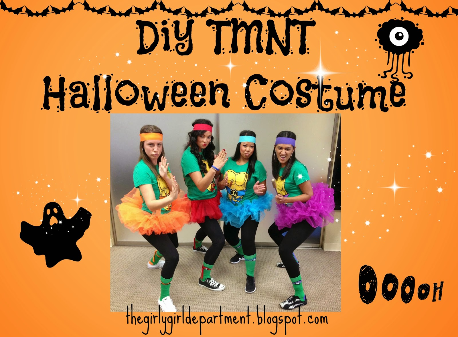 DIY Halloween Costume Teenage Mutant Ninja Turtles  sc 1 st  The Girly Girl Department & The Girly Girl Department: DIY Halloween Costume: Teenage Mutant ...