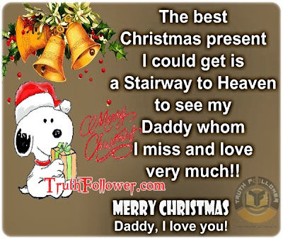 The Best Christmas Present Ever Marry Christmas Daddy Quotes