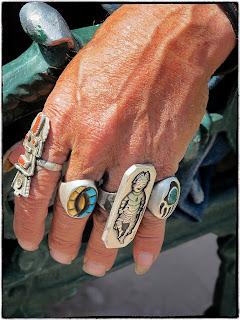 Doc, Santa Fe, turquoise native american rings
