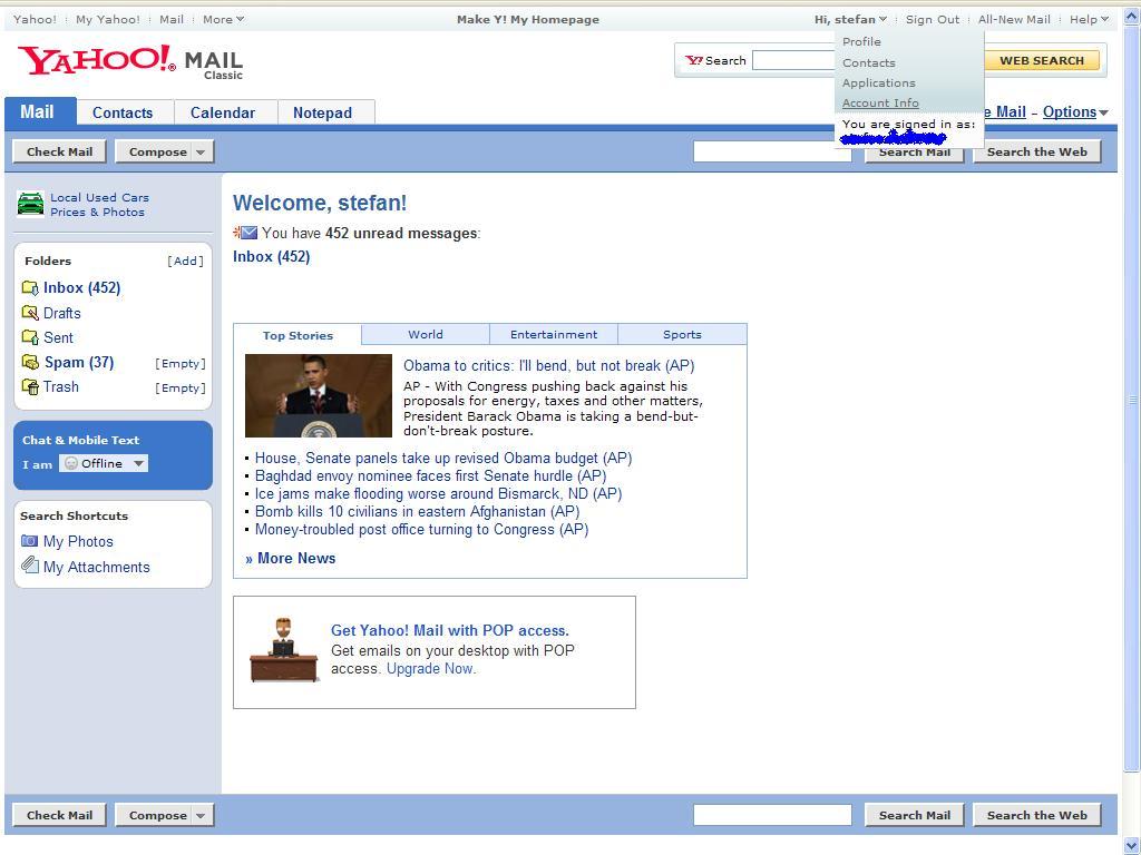 schimba parola yahoo messenger mail tutorial