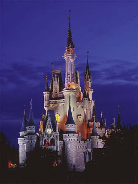 skyme one world day and night of walt disney world castle