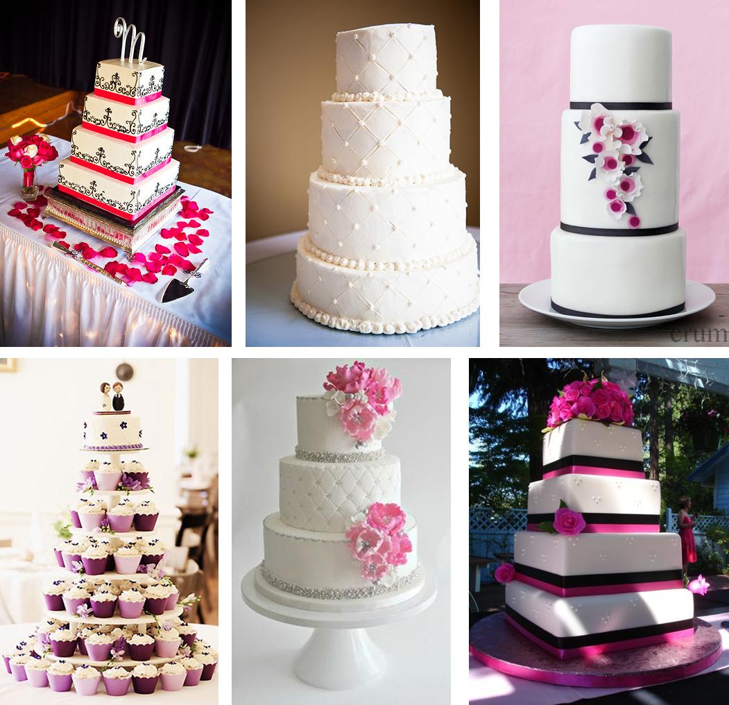 tarta boda wedding cake fuchsia fucsia series inspiración inspiration fondant muñecos