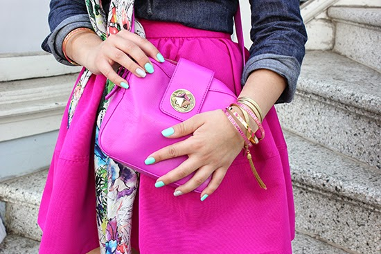 Kate Spade Handbag and Stacked Bracelets