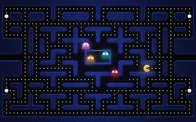 El clásico juego de pacman