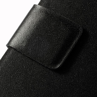 Black Doormoon Wallet Genuine Leather Case Cover for Sony Xperia Acro S LT26w
