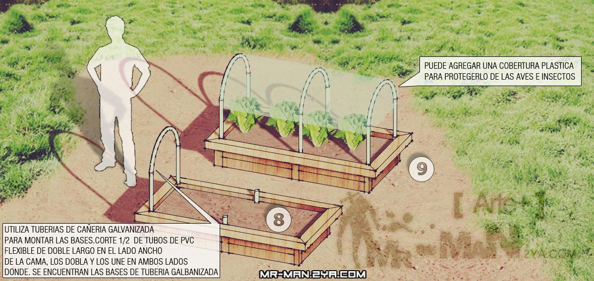 Instalar huerto elevado arte for Drenaje de jardin
