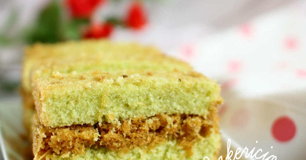 Pandan Coconut Butter Cake Recipe