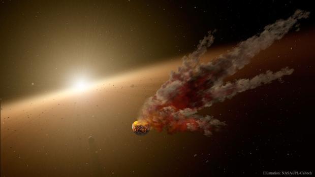 Tabby engulló a un planeta hace  10.000 años